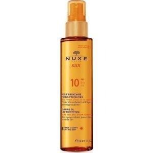 Nuxe Sun Tanning Oil Λάδι Μαυρίσματος Για Πρόσωπο & Σώμα SPF10 150ml