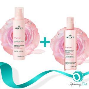 Nuxe Very Rose Make-up Remover Κρεμώδες Γαλάκτωμα Καθαρισμού 200ml + Nuxe Very RoseΤονωτική Λοσιόν Προσώπου Σε Μορφή Spray 200ml