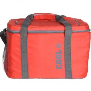 OEM Cooler Bag Ισοθερμική Τσάντα Ψυγείο 24L 37x26x25cm Κόκκινο 1τμχ