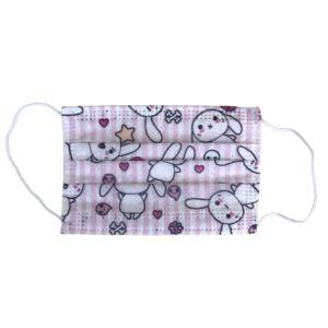OEM Παιδική Χειρουργική Μάσκα Προσώπου Με Σχέδιο Ροζ Κουνελάκι 5 Τμχ
