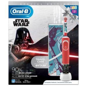 Oral B Special Edition Star Wars Kids 3+ Παιδική Επαναφορτιζόμενη Ηλεκτρική Οδοντόβουρτσα & Δώρο Θήκη Ταξιδίου 1τμχ