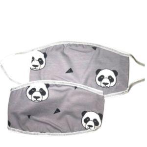 Παιδική Βαμβακερή Μάσκα Προσώπου Με Σχέδιο Γκρι Αρκουδάκι  (A5)  2τμχ