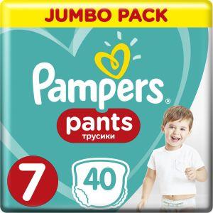 Pampers Pants Jumbo Pack No7 (17+ kg) Βρεφικές Πάνες-Βρακάκι 40 τμχ
