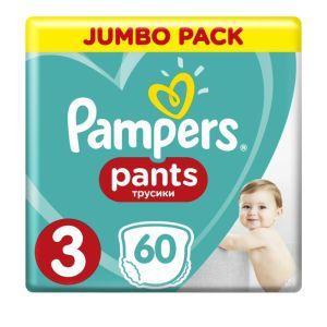 Pampers Pants Jumbo Pack No 3 (6-11Kg) Βρεφικές Πάνες - Βρακάκι 60 τμχ