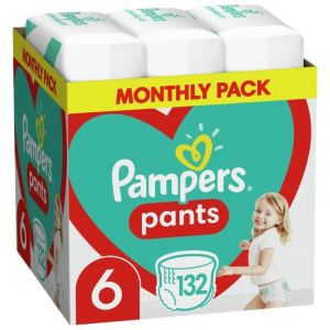 Pampers Pants Βρεφικές Πάνες Βρακάκι No 6 (15kg+) Monthly Pack 132τμχ