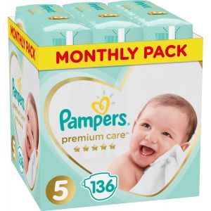 Pampers Premium Care No 5 (11-18kg) 136τμχ