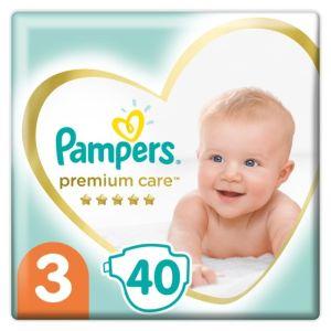 Pampers Premium Care Βρεφικές Πάνες No 3 (6-10Kg) Value Pack 40 τμχ
