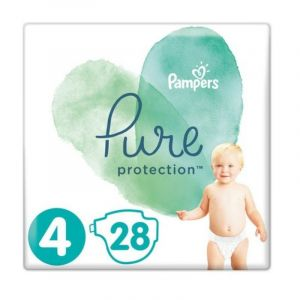 Pampers Pure Protection No 4 (9-14Kg) Βρεφικές Πάνες 28 Τεμάχια