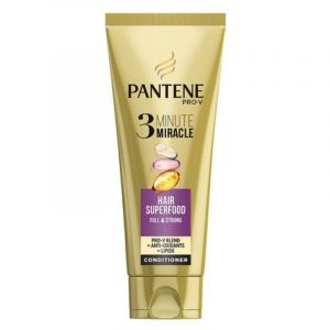 Pantene Pro-V 3 Minute Miracle Superfood Full & Strong Conditioner για Λεπτά & Αδύναμα Μαλλιά 200ml