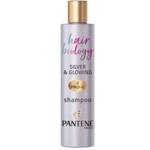 Pantene Pro-v Hair Biology Silver & Glowing Purple Shampoo Σαμπουάν Για Γκρίζα & Ξανθά Μαλλιά 250ml