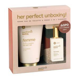 Panthenol Extra Promo Femme Eau De Toilette Γυναικείο Άρωμα 50ml & Δώρο Cleanser Face,Body & Hair Αφρόλουτρο & Σαμπουάν 200ml