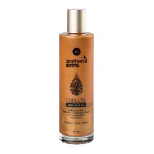 Medisei Panthenol Extra Shimmering Dry Oil Ιριδίζον Ξηρό Λάδι Για Πρόσωπο Σώμα & Μαλλιά 100ml