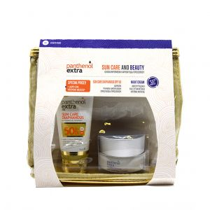 Medisei – Promo Panthenol Extra Suncare Diaphanous Αντηλιακό Προσώπου Διαφανές SPF50 50ml & Αντιρυτιδική Κρέμα Νύχτας 50ml & Δώρο Νεσεσέρ