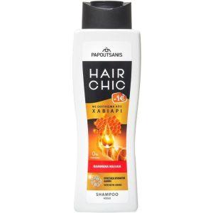 Papoutsanis Hair Chic Σαμπουάν Για Βαμμένα Μαλλιά Με Εκχύλισμα Από Χαβιάρι 400ml
