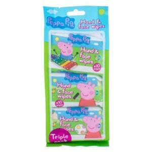 Peppa Pig Παιδικά Καθαριστικά Μαντηλάκια για Πρόσωπο & Χέρια 3x10τμχ