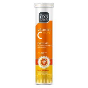 Pharmalead Vitamin C 1000mg Βιταμίνη C με Γεύση Πορτοκάλι για την Ενίσχυση του Ανοσοποιητικού Συστήματος 20 Αναβράζοντα Δισκία