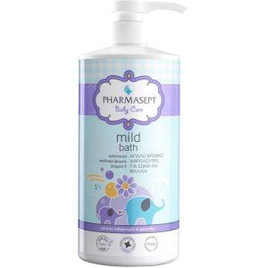 Pharmasept Baby Care Mild Bath Απαλό Βρεφικό Αφρόλουτρο Για Σώμα & Μαλλιά 1Lt