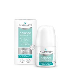 Pharmasept Balance Mild Deo Roll-On Απαλό Αποσμητικό 50ml