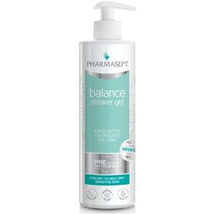 Pharmasept Balance Shower Gel Αφρόλουτρο Για Πρόσωπο & Σώμα Ιδανικό Για Ξηρή/ Πολύ Ξηρή Ευαίσθητη Επιδερμίδα 500ml
