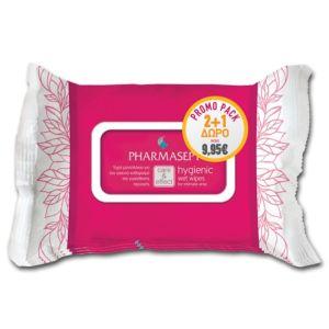 Pharmasept Hygienic Wet Wipes Πακέτο Promo 2+1 Υγρά Μαντηλάκια για τον Υγιεινό Καθαρισµό της Ευαίσθητης Περιοχής