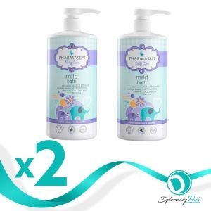 Pharmasept Πακέτο Promo Set Baby Care Mild Bath Σετ Απαλό Βρεφικό Αφρόλουτρο Για Σώμα & Μαλλιά 2x1Lt
