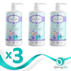 Pharmasept Παιδικό Πακέτο Promo Set Baby Care Mild Bath Σετ Απαλό Βρεφικό Αφρόλουτρο Για Σώμα & Μαλλιά 3x1Lt