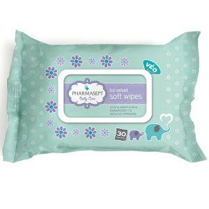 Pharmasept Tol Velvet Baby Care Απαλά Μαντηλάκια Καθαρισμού Για Πρόσωπο & Χέρια 30 Τμχ