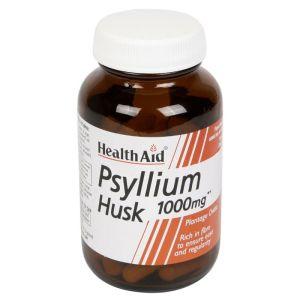 Health Aid Psyllium Husk 1000Mg  Ψύλλιο για την Ομαλή Λειτουργία του Εντέρου 60 Κάψουλες
