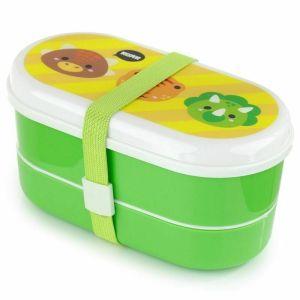 Puckator Lunch Box Cutie Saurs Πλαστικό Παιδικό Σετ Φαγητού 8.5x17x8.5cm 3τμχ