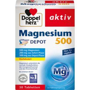 Doppelherz Activ Magnesium Συμπλήρωμα Μαγνησίου 500Mg 30 Ταμπλέτες