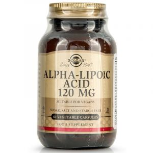 Solgar Alpha Lipoic Acid 120mg Άλφα Λιποϊκό Οξύ Ισχυρό Αντιοξειδωτικό 60 Φυτικές Κάψουλες