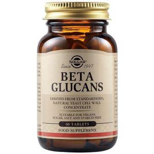 Solgar Beta Glucans Συμπλήρωμα Διατροφής Για Την Ενίσχυση Του Ανοσοποιητικού Συστήματος 60Tabs