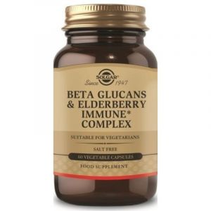 Solgar Beta Glucans & Elderberry Immune Complex Φόρμουλα για Ενίσχυση Ανοσοποιητικού Συστήματος 60 Φυτικές Κάψουλες