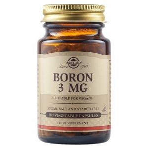 Solgar Boron 3mg Σκεύασμα Βορίου 100 Φυτικές Κάψουλες