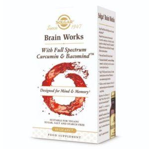 Solgar Brain Works Full Spectrum Συμπλήρωμα Διατροφής για Υποστήριξη Εγκεφαλικών Λειτουργιών  60Licaps