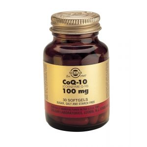 Solgar Coenzyme Q10 100mg Softgels 30s