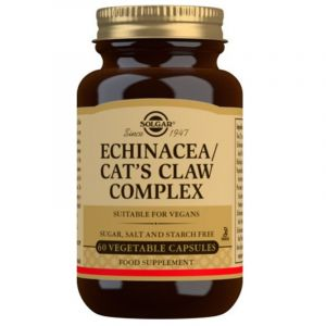 Solgar Echinacea/ Goldenseal/ Cat's Claw Complex Φόρμουλα για την Τόνωση του Οργανισμού & την Υγεία του Ευερέθιστου Εντέρου 60 Φυτικές Κάψουλες