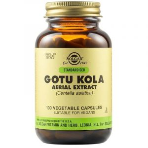 Solgar Gotu Kola Aerial Extract για Κιρσώδεις Φλέβες Κυτταρίτιδα & Δερματικά Προβλήματα 100 Φυτικές Κάψουλες
