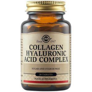 Solgar Collagen Hyaluronic Acid Complex Υαλουρονικό Οξύ 120mg 30 Ταμπλέτες