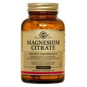 Solgar Citrate Magnesium 200mg Συμπλήρωμα Διατροφής Με ΚιτρικόΜαγνήσιο Για Ενέργεια & Μείωση Του Στρες 60 Φυτικές Κάψουλες