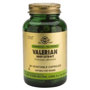 Solgar Valerian Root Extract Συμπλήρωμα Διατροφής Με Βαλεριάνα Για Ηρεμία & Χαλάρωση 60 Φυτικές Κάψουλες