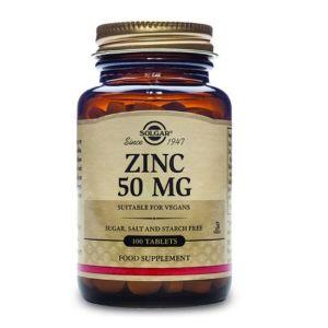 Solgar Zinc Gluconate 50mg Συμπλήρωμα Διατροφής Με Ψευδάργυρο Για Ενίσχυση Της Γονιμότητας 100 Φυτικές Ταμπλέτες