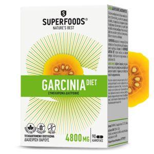 Superfoods Garcinia Diet 4800mg Συμπλήρωμα Διατροφής Για Μείωση Του Βάρους 90 Caps