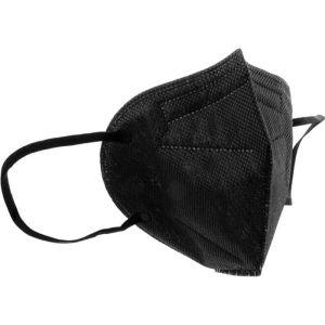 Σύνδεσμος Μάσκα FFP2 NR Μιας Χρήσης Μαύρη Χωρίς Βαλβίδα BFE 98%  1τμχ