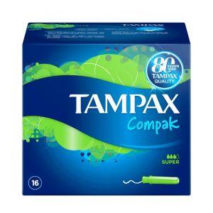Tampax Compak Super Ταμπόν Με Απλικατέρ - Μεγάλη Ροή 16τμχ