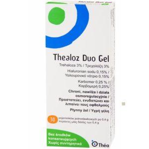 Thealoz Duo Gel Οφθαλμικό Λιπαντικό & Ενυδατικό Τζελ 30 x 0.4gr