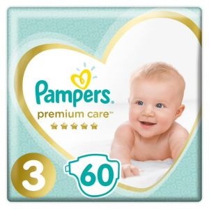 Pampers Premium Care Jumbo Pack No 3 Midi (6-10 Kg) 60 Πάνες