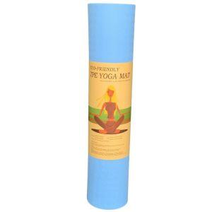TPE Yoga Mat Οικολογικό Στρώμα Γυμναστικής Yoga-Πιλάτες Χρώμα Γαλάζιο