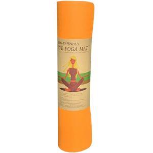 TPE Yoga Mat Οικολογικό Στρώμα Γυμναστικής Yoga-Πιλάτες Χρώμα Πορτοκαλί