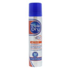 Triple Dry Active Fragrance Ανδρικό Αρωματικό Αποσμητικό Spray Σώματος 72Ωρης Προστασίας 75ml